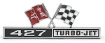 C2 Corvette 1966 Turbo Jet 427 Crossed Flags Front Fender Badges - OE Correct