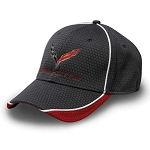 C7 Corvette 2014-2019 Stingray/Z06/Grand Sport Hex Pattern Cap - Red/Graphite