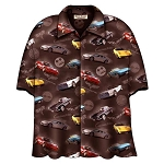 C2 C3 C4 C5 C6 Corvette 1968-1982 Brown Camp Shirt - David Carey Design