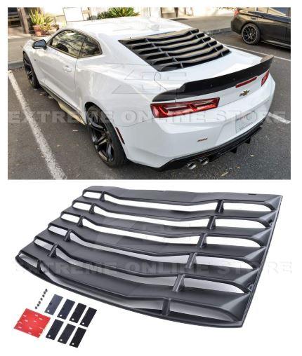 DNA MOTORING WINL-002 Rear Window Louver Windshield Sun Shade Cover for 93-02 Camaro Coupe