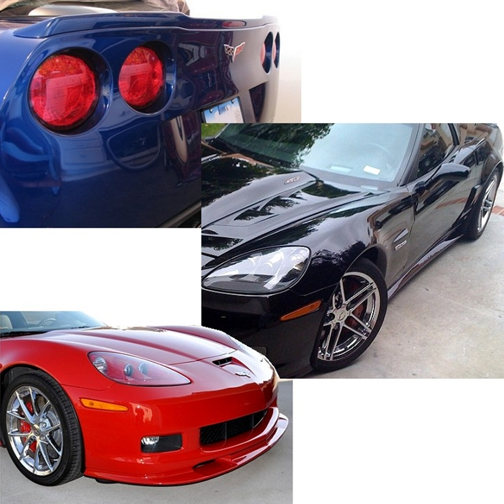 C6 Corvette 2006-2013 ZR1 Style Ground Effects Package Custom Painted : Fits Grand Sport and Z06