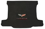 C6 Corvette 2005-2013 Lloyd Velourtex Cargo Mat - Corvette Racing & Cross Flags