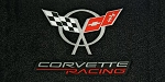 C5 Corvette 1997-2004 Lloyds Velourtex Cargo Mat - Flags and Corvette Racing