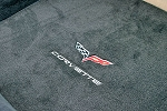 C6 Corvette 2005-2013 Lloyds Velourtex Coupe/Convertible Cargo Mat Cross Flags & Lettering