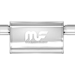 Gen 5 Camaro 2010-2015 MagnaFlow 5 x 8 Oval Offset Performance Mufflers w/ Polished Finish - Length Selection
