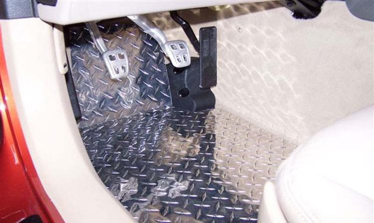 C6 Corvette 2005-2013 Diamond Plate Floor Mats