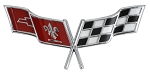 C3 Corvette 1977-1979 Crossed Flags Nose Emblem