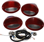 C5 Corvette 1997-2004 European Taillight Conversion Kit - Red/Clear