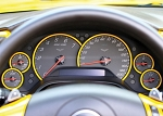 C6 Corvette 2005-2013 Paint-Matched Dash Gauge Bezels