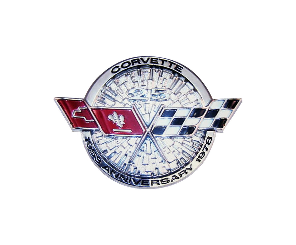 C3 Corvette 1978 Front Emblem Metal Sign 25th Anniversary