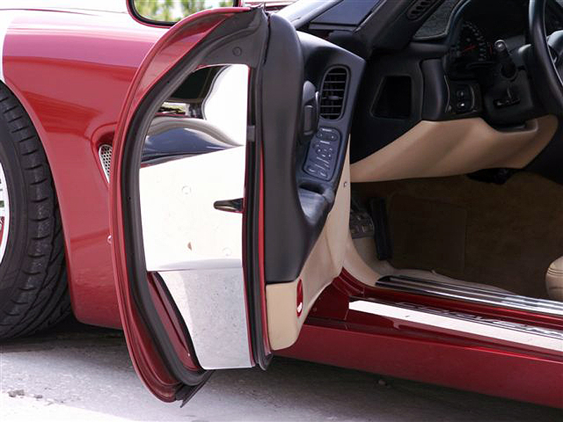 C5 Corvette 1997-2004 Stainless Steel Door Jamb Covers - Polished