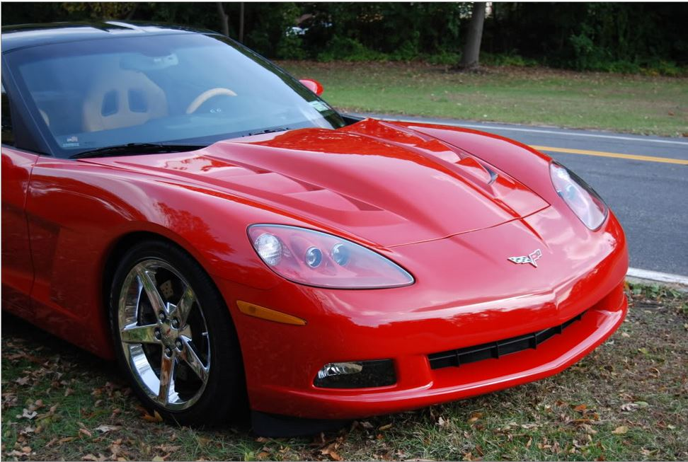 C6 Corvette 2005-2013 Custom Fiberglass Vented Supercharger Hood