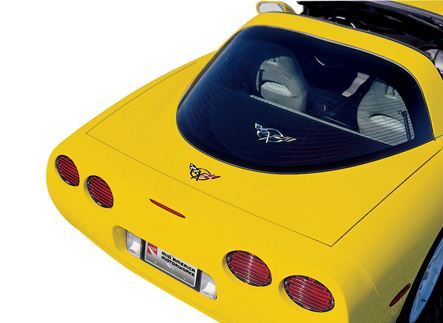C5 Corvette 1997-2004 Embroidered Cargo Shade