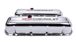 C3 Corvette 1968-1982 Proform Big Block Chrome Valve Cover - Tall - Chevrolet & Bowtie Inlaid