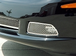 C6 Corvette 2005-2013 Stainless Steel Laser Mesh Fog Light Grilles - Pair