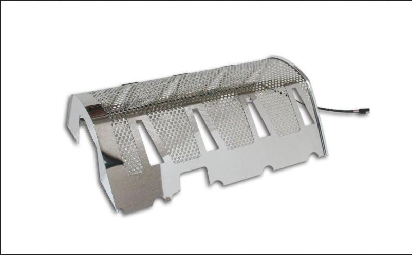 2008-2011 Dodge Challenger SRT-8 Illuminated Stainless Steel Plenum Cover  w/ High Polished Mirror Finish