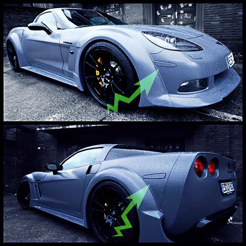 C6 Corvette 2005 2013 Led Side Marker Lenses Paint
