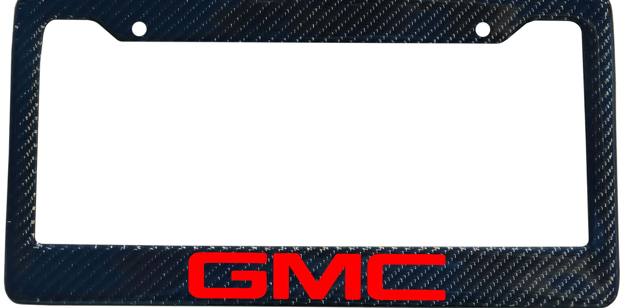 GMC Brand Script License Plate Frame - Color/Finish Selections