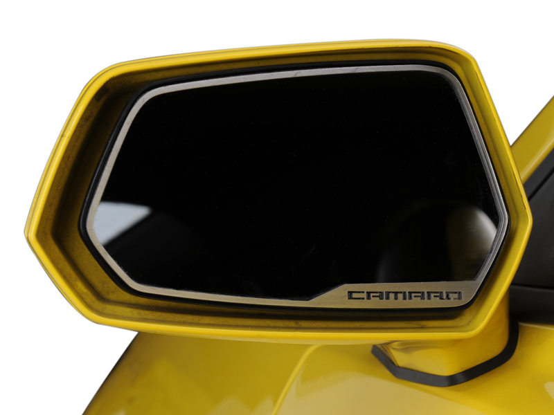 Gen 5 Camaro 2010-2013 Brushed Camaro Style Side View Mirror Trim - 2pc