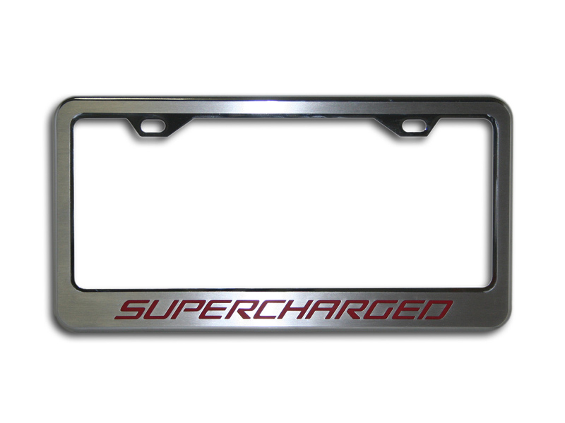 Gen 5 Camaro 2010-2015 Polished/Brushed Tag Frame w/ Supercharged Carbon Fiber Inlay
