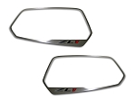 Gen 5 Camaro 2012-2013 Brushed ZL1 Style Side View Mirror Trim - 2pc