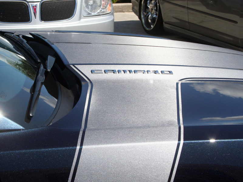 Gen 5 Camaro 2010-2013 Brushed Gun Metal Wrap Jet Stream Graphic