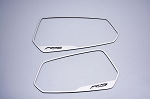 Gen 5 Camaro 2010-2013 Brushed Side View Mirror Trim w/ RS Lettering - 2pc