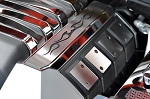 Gen 5 Camaro SS 2010-2015 Polished Fuel Rail Covers w/ Carbon Fiber Tribal Flame