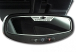 Gen 5 Camaro 2010-2012 Brushed Camaro Style Oval Rear View Mirror Trim
