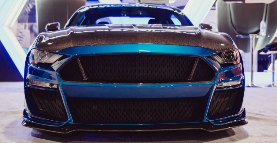 2018-2019 Ford Mustang Type-ST GT500 Style Fiberglass Front Bumper with  Front Lip