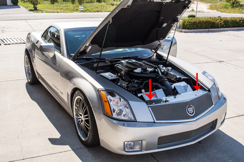 How To Look Up License Plate Number >> Cadillac XLR / XLR-V 2004-2009 Front Header Plate ...