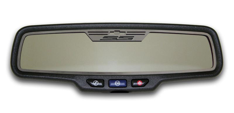 Gen 5 Camaro 2010-2013 Brushed SS Style Rectangle Rear View Mirror Trim