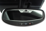 Gen 5 Camaro 2010-2014 Brushed SS Style Oval Rear View Mirror Trim