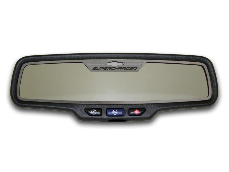 Gen 5 Camaro 2012-2013 Brushed Supercharged Style Rectangle Rear View Mirror Trim