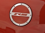 Gen 5 Camaro 2010-2014 Brushed Gas Cap Cover w/ RS Script