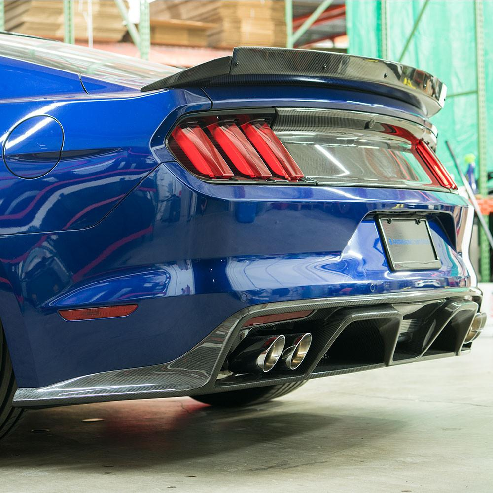 2015-2017 Ford Mustang Type-GR GT350 Style Carbon Fiber Rear Diffuser