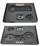 C5 C6 C7 Corvette 1997-2019 Billet Aluminum Carbon Fiber Style Front & Rear Racing Tow Hook Set - Rated at 5,000lbs