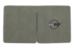 C4 Corvette 1984-1996 Convertible Ultimat Lloyd Cargo Mats with C4 Emblem