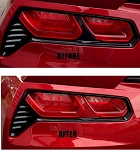 C7 Corvette Stingray/Z06/Grand Sport 2014-2019 Custom Painted Tail Light Bar Mod - Acrylic