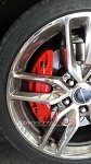 C7 Corvette Stingray 2014-2019 GM Brake Calipers Set - Red