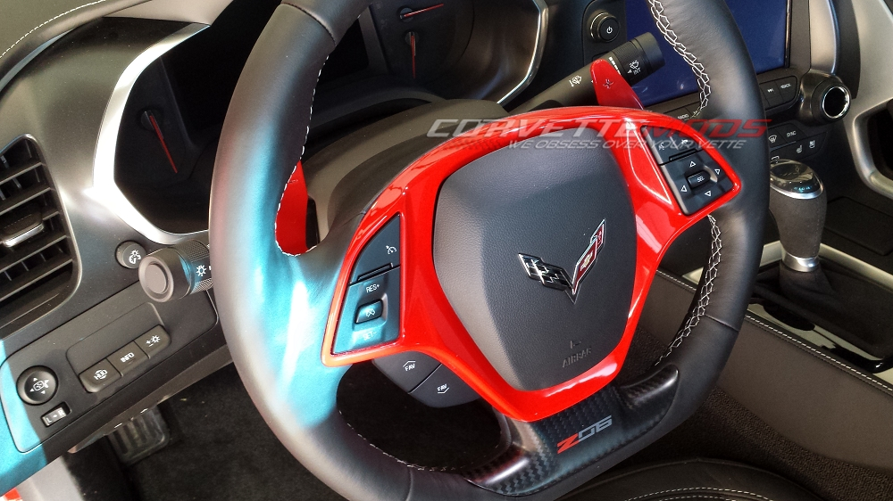 2017 Corvette Price >> C7 Corvette Stingray/Z06/Grand Sport 2014+ Custom Painted Steering Wheel Trim Bezel | Modern Gen ...