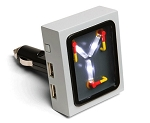 Back To The Future Flux Capacitor USB Car Charger - Any Device - LED Glow Effect