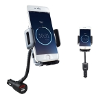3 In 1 Smart Phone Mount, USB Car Charger & Voltage Detector