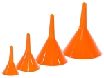 Plastic Funnel Set For Oil, Gas, & Engine Fluids - 4 Piece Set