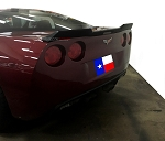 C6 Corvette 2005-2013 Hydro Carbon Fiber Extended Spoiler (Wicker Bill) - No-Drill Design