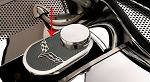 C5 C6 Corvette 1997-2013 Master Cylinder Cover w/ Carbon Fiber Inlay & Crossed Flags - Includes Cap Cover