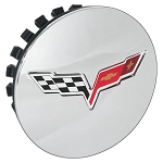 C6 Corvette 2008-2013 GM Chrome Center Caps With Crossed Flags