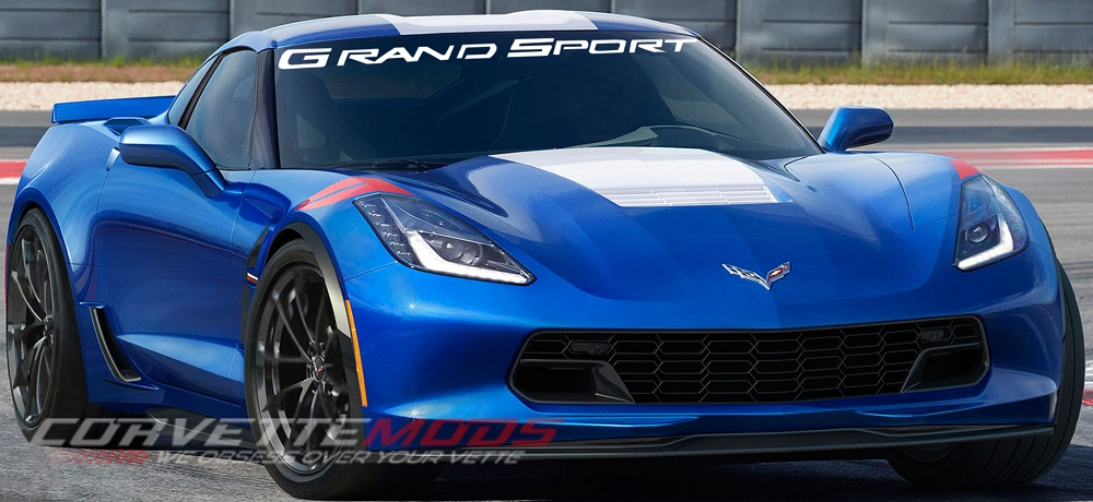 C7 Corvette 2017 Windshield Decal Grand Sport Modern