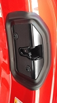 C7 Corvette Stingray/Z06/Grand Sport 2014-2019 Hydro Carbon Fiber Door Lock Latch Cover With Gasket - Pair