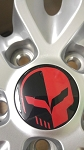C7 Corvette 2014-2019 Jake Skull Center Cap Decals - Color Options